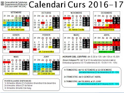 Calendari curs 2016-17