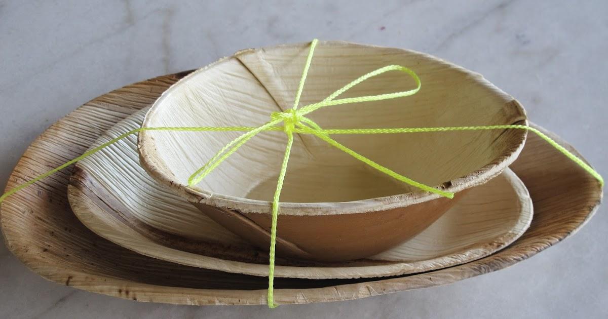 La Tienda de Muebleando: Platos con hojas de palmera