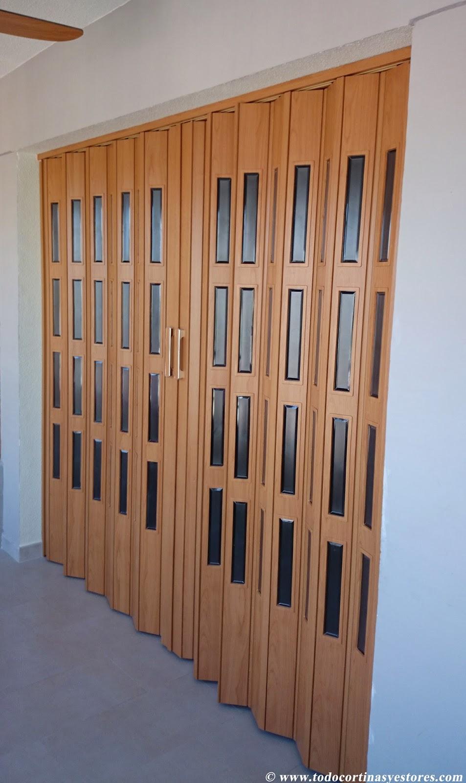 Decoracion interior cortinas verticales estores Cortinas plegables de pvc