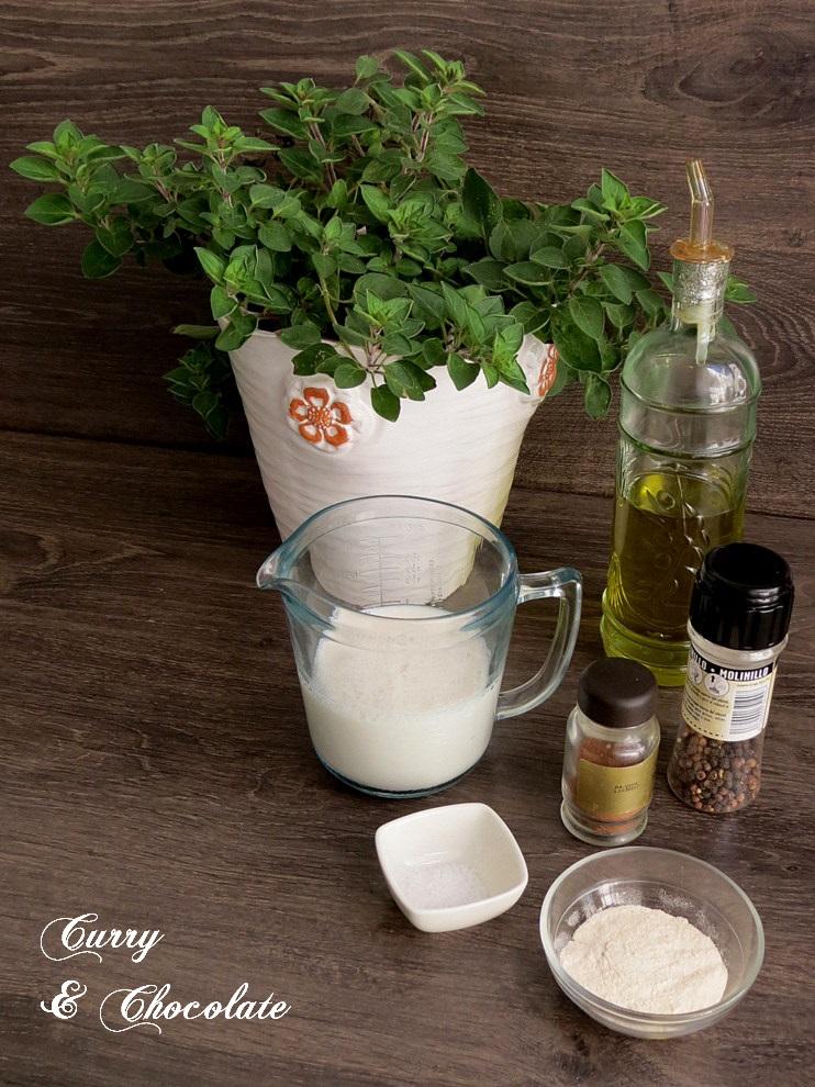 Ingredientes de la bechamel