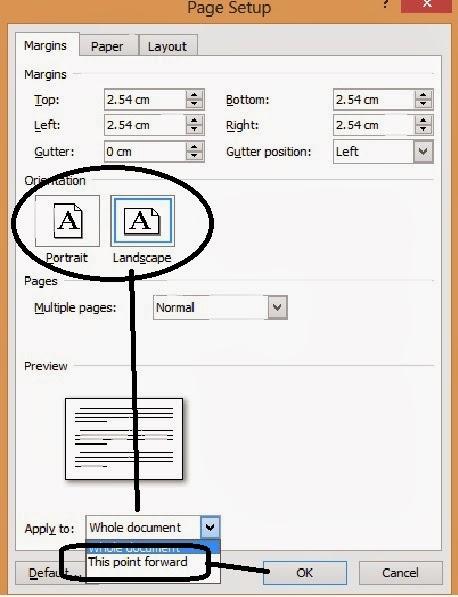 gambar dialog Page Setup-orientasi