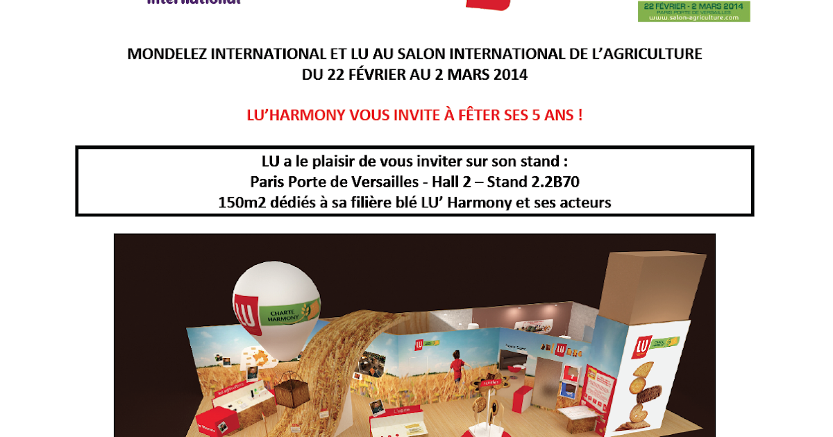 Lu 39 harmony au salon de l 39 agriculture 2014 1 entr e au - Salon de l agriculture 2014 exposants ...