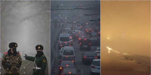 Gegara Kabut Asap Beracun Ini, Ibukota China Alami Natal 'Putih'