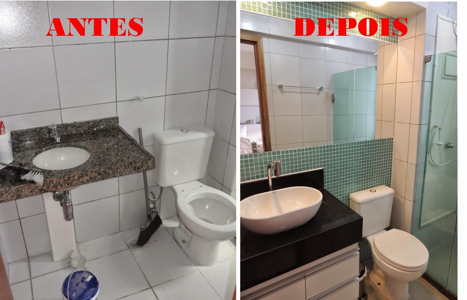 EU DECORO Reforma Banheiro Suite ANTES E DEPOIS -> Reforma Banheiro Pequeno Antes E Depois