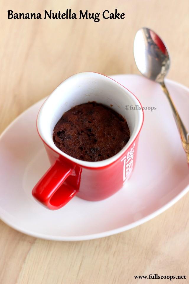Microwave Cake Mug Nutella