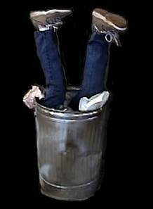 Halloween dumpster diver constume
