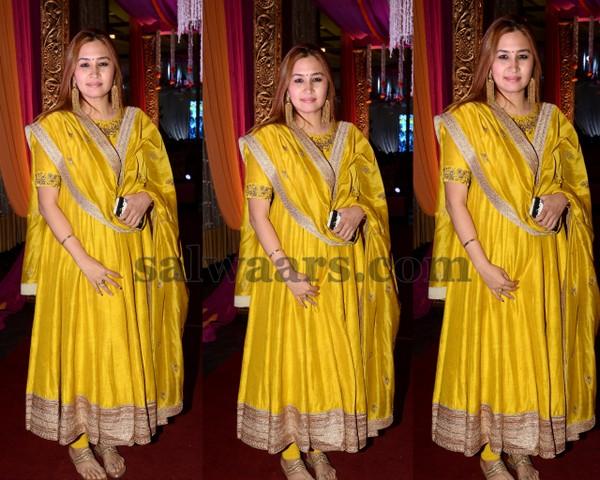 Jwala Gutta Yellow Salwar