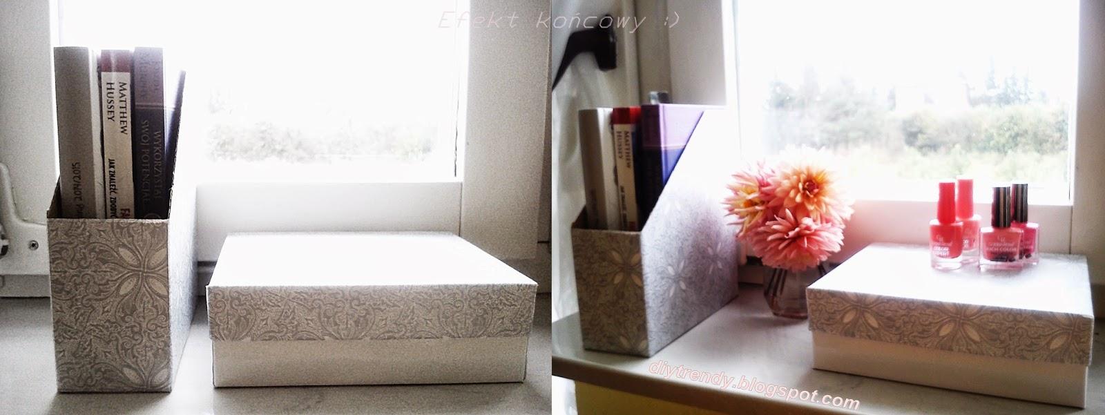 DIY segregator oraz pudełko na drobiazgi (lub na prezent)
