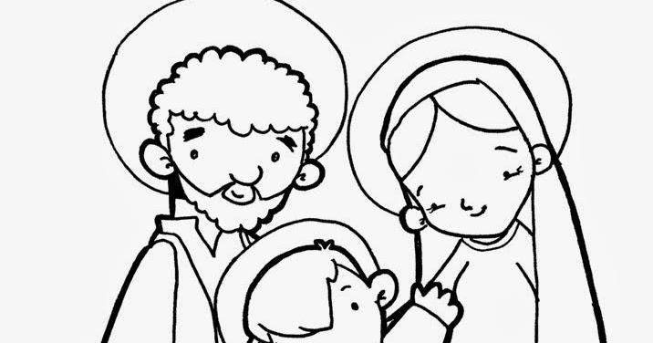 dibujos catlicos la sagrada familia para colorear gratis
