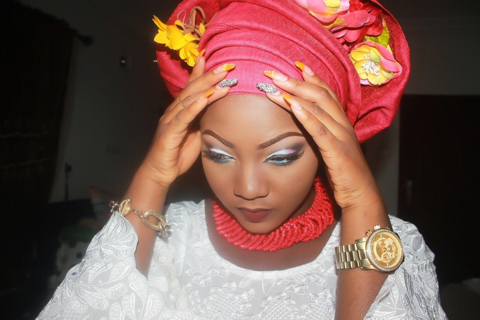 UWANI ALIYU: YORUBA BRIDE- MAKEUP + GELE TYING + TULIP ...