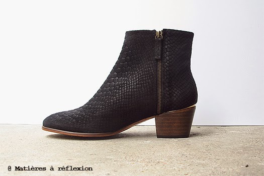 Low boots Emma Go Carter façon serpent