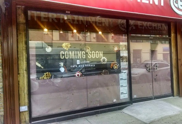 work continues on caffe benes new bay ridge outpost 8614 5th ave as reported last week plywood has been taken down to expose floor to ceiling glass - Glass Front Cafe 2015