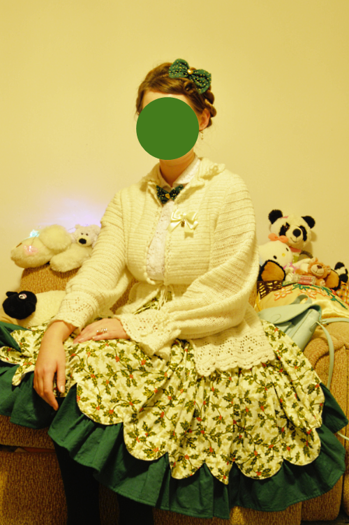 colour coordination, repetition, balancing, lolita, style, lesson, how to, christmas, green, white