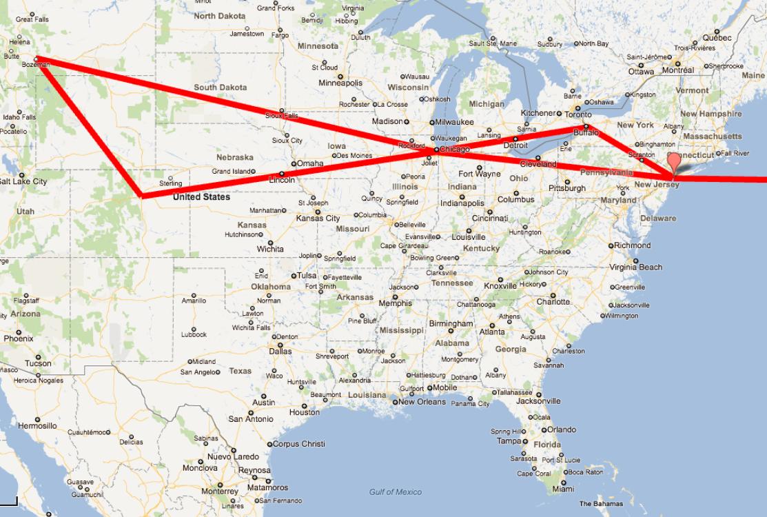 Mapa De Estados Unidos Por Ciudades