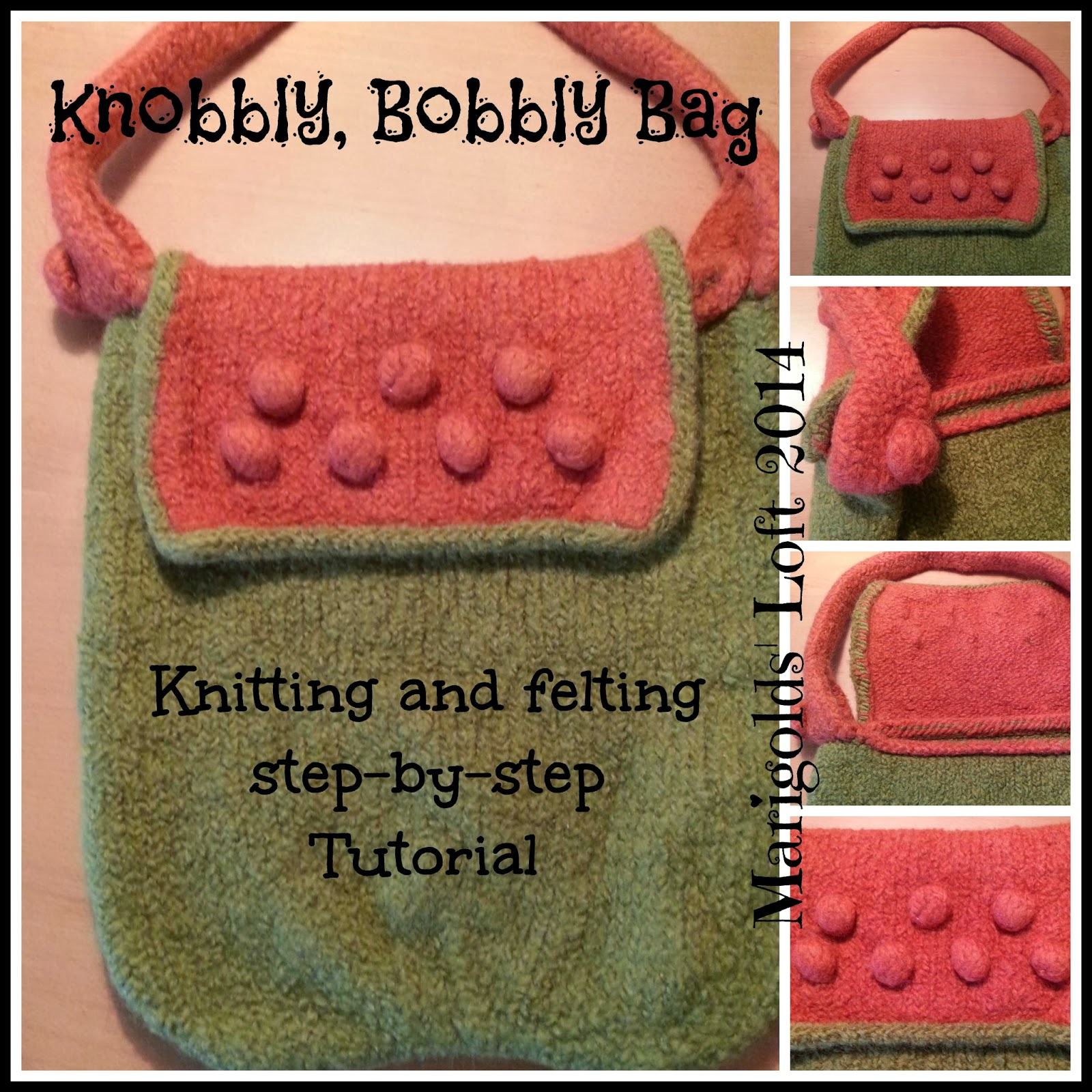 felted bag tutorial, step for step