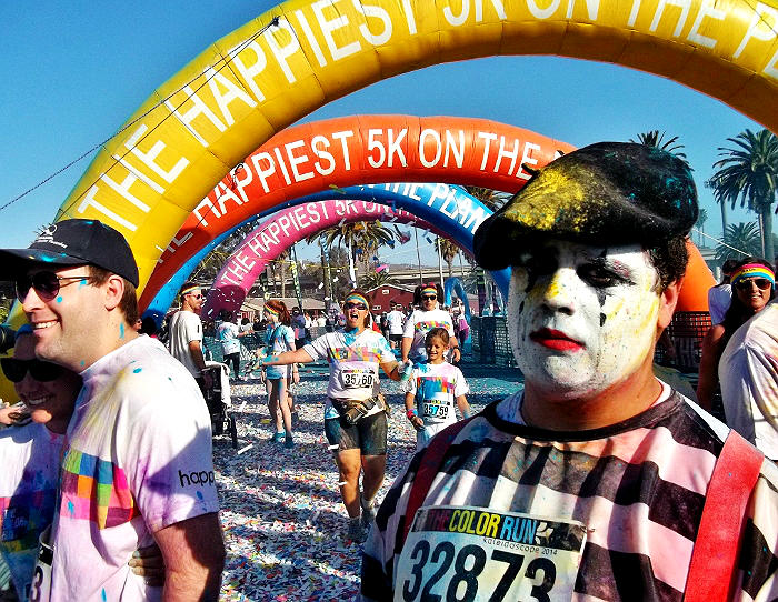 The Color Run Ventura, CA 2014 Finish Line Mime