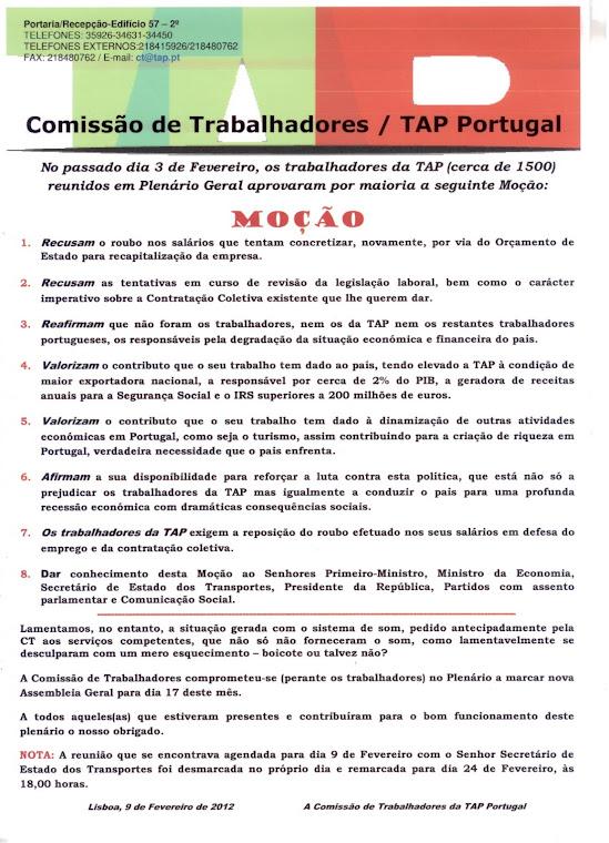 Moção Plenário CT 3FEV2012