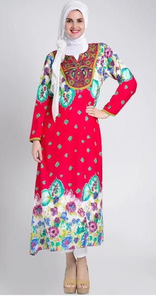 Foto Gambar Model Baju Hamil Batik Muslim Simple Murah