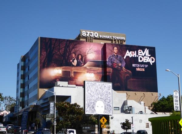 Giant Ash vs Evil Dead series premiere billboard