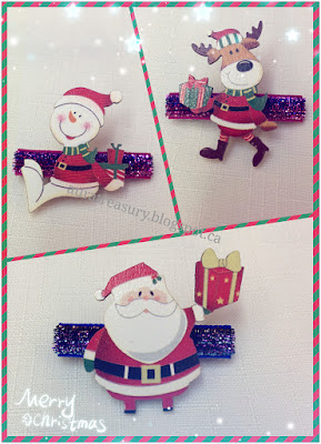 How to make Christmas Style Hairclips with French Barrettes