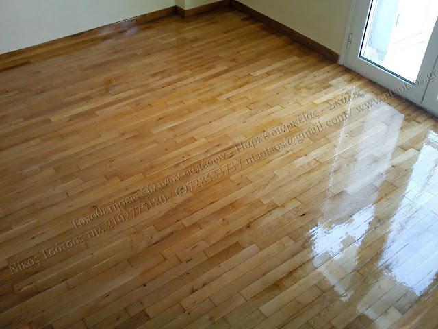 Τρίψιμο και γυάλισμα ξύλινων πατωμάτων
