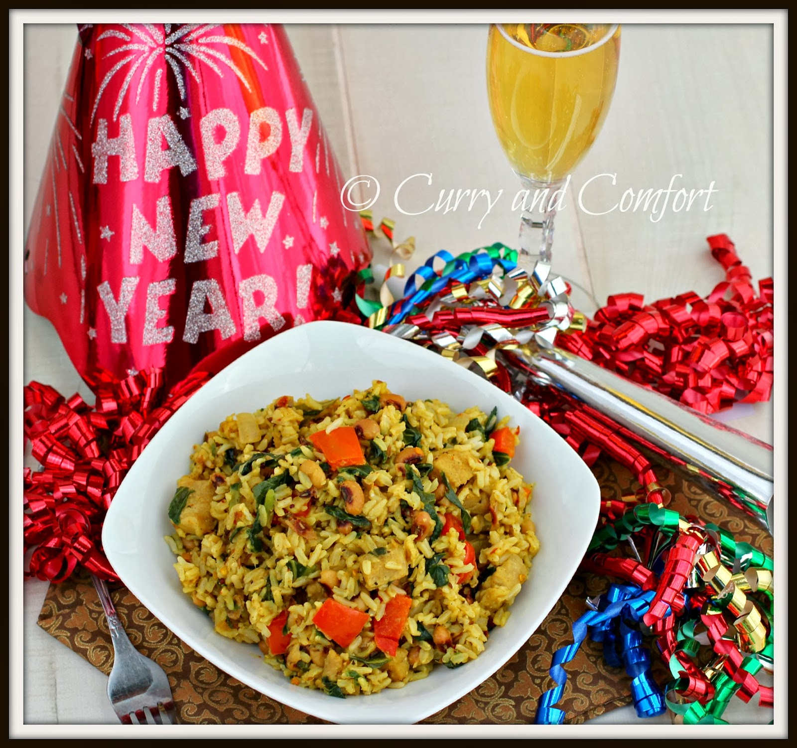 Curry and Comfort: New Year Hoppin' John Good Luck Rice Pilaf