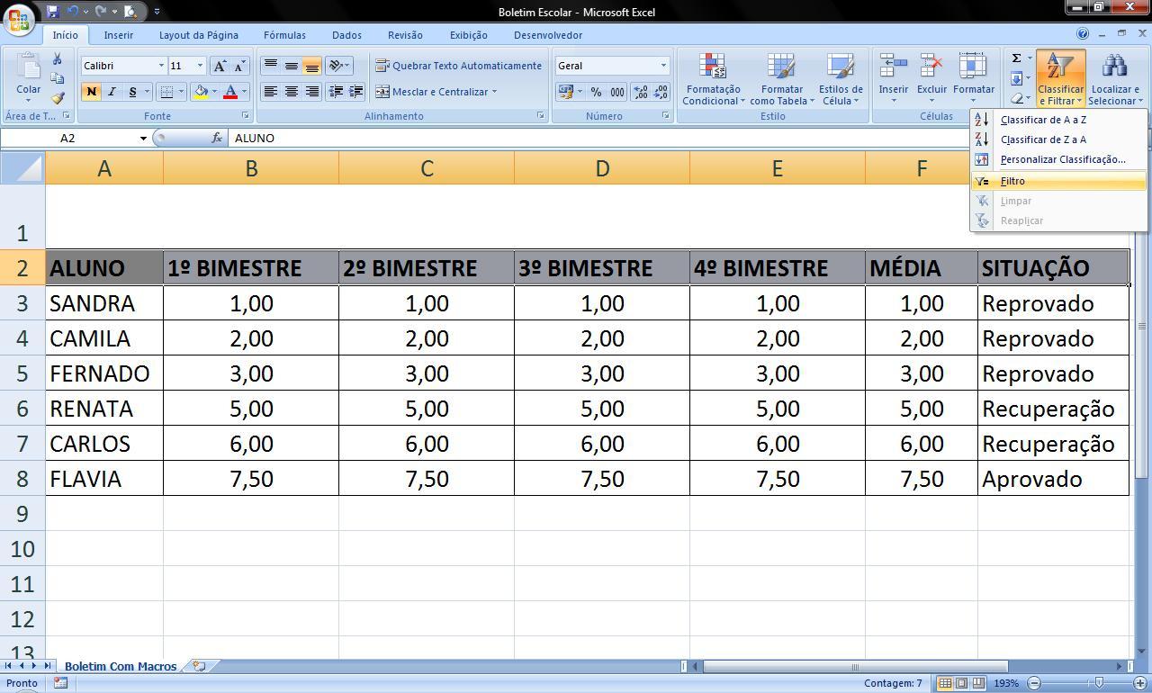 Populares O Melhor do Excel: Boletim Escolar. VZ81