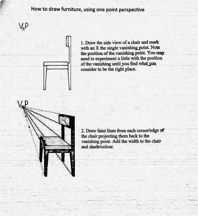 The Helpful Art Teacher Draw a Surrealistic Room in One Point – Perspective Worksheets