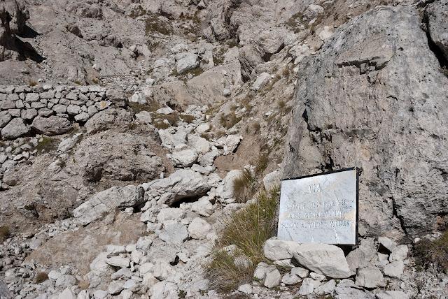 Attacco della via Cieri al Monte Infornace