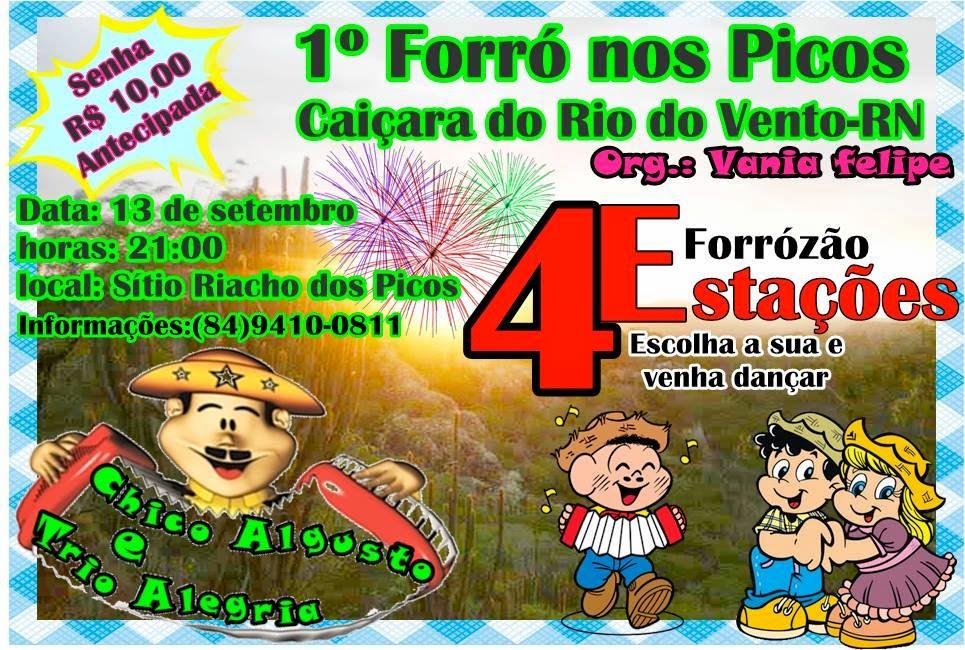PRIMEIRO FORRÓ DA FAZENDA RIACHO DOS PICOS CAIÇARA DO RIO DO VENTO
