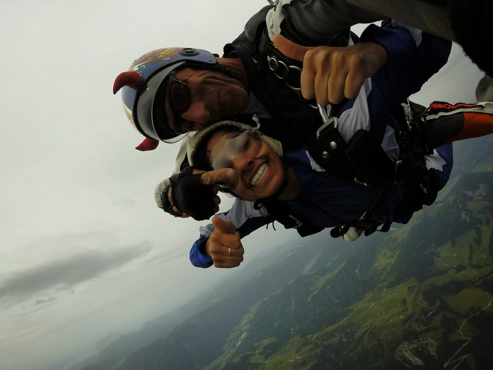 skydiving austrian alps tyrol europe