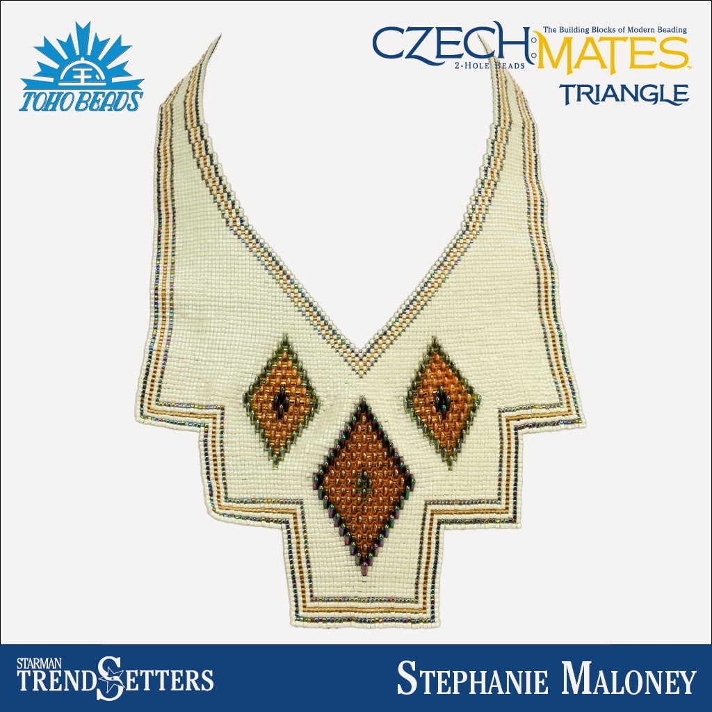 CzechMates Triangle necklace by Starman TrendSetter Stephanie Maloney