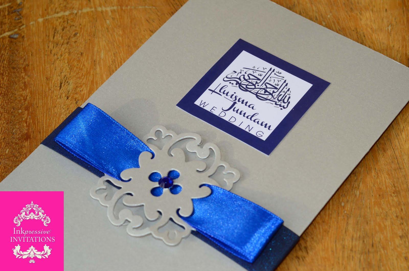 Boarding Pass style Muslim Wedding Invitation | INKPRESSIVE INVITATIONS
