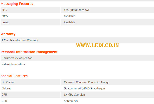 Lumia 900 Specifications