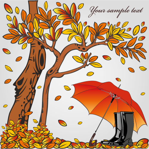 bucólica escena de otoño