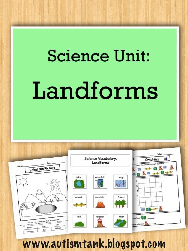 Autism Tank Product Preview Landforms Science Unit