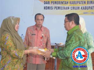 Data Agregat Kependudukan (DAK2) Kota dan Kabupaten Bima, Resmi Diserahkan ke KPU