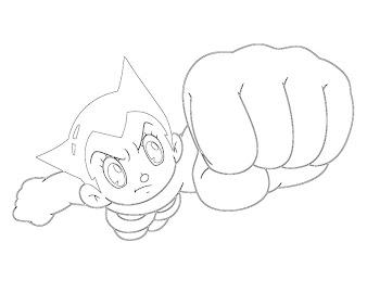 #8 Astro Boy Coloring Page