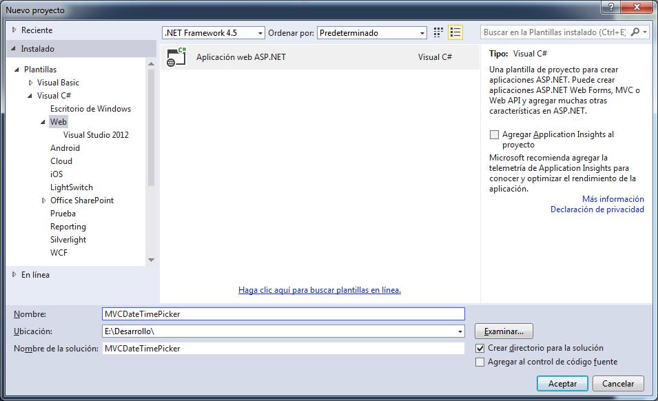 ASP.NET MVC. Plantilla de editor para fecha y hora - Píldoras .NET