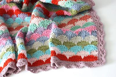 free crochet clamshell pattern