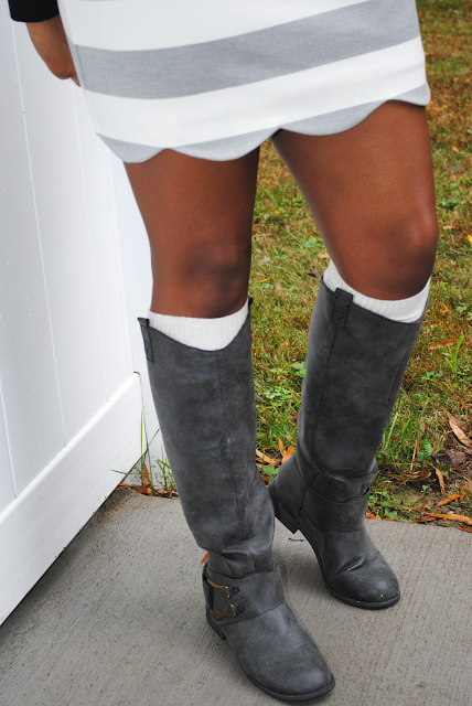 Oui to the Scallop Miniskirt ; Topshop scallop miniskirt, Married to the MOB Oui sweater, Mossimo riding boots, cute fall outfits, fall outfit inspiration, fall, fall outfit, outfit inspiration, outfit inspo