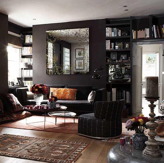 Living room design black living room colors Black room color schemes