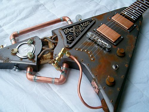 Art-Sci: Steampunk Guitars Harmonize Victorian Science and Modern ...