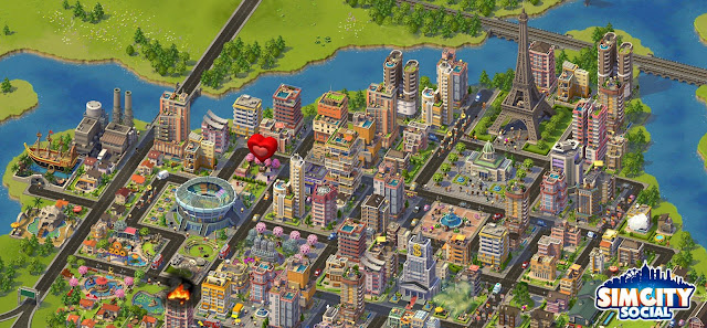 Nova imagem do SimCity Social