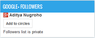 Widged Google + Followers, Followers list is private