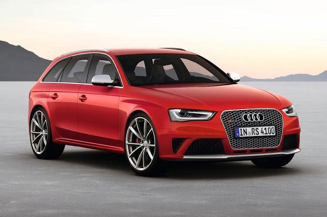 2013 Audi RS4 Avant Red Wallpaper