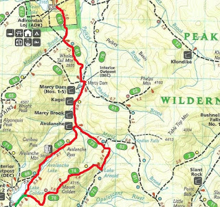 Mt Colden NY Adk TrailsNH Hiking Conditions - Mt katahdin trail map