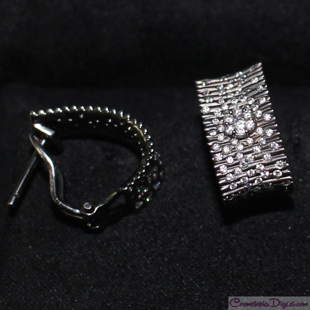 Black gold and diamond earrings 83c