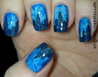 Maybelline-Cool-Blue-651-Barry-M-Blue-Grape-317-Bundle-Monster-414-BM414-Stamped-Skyline-Nails