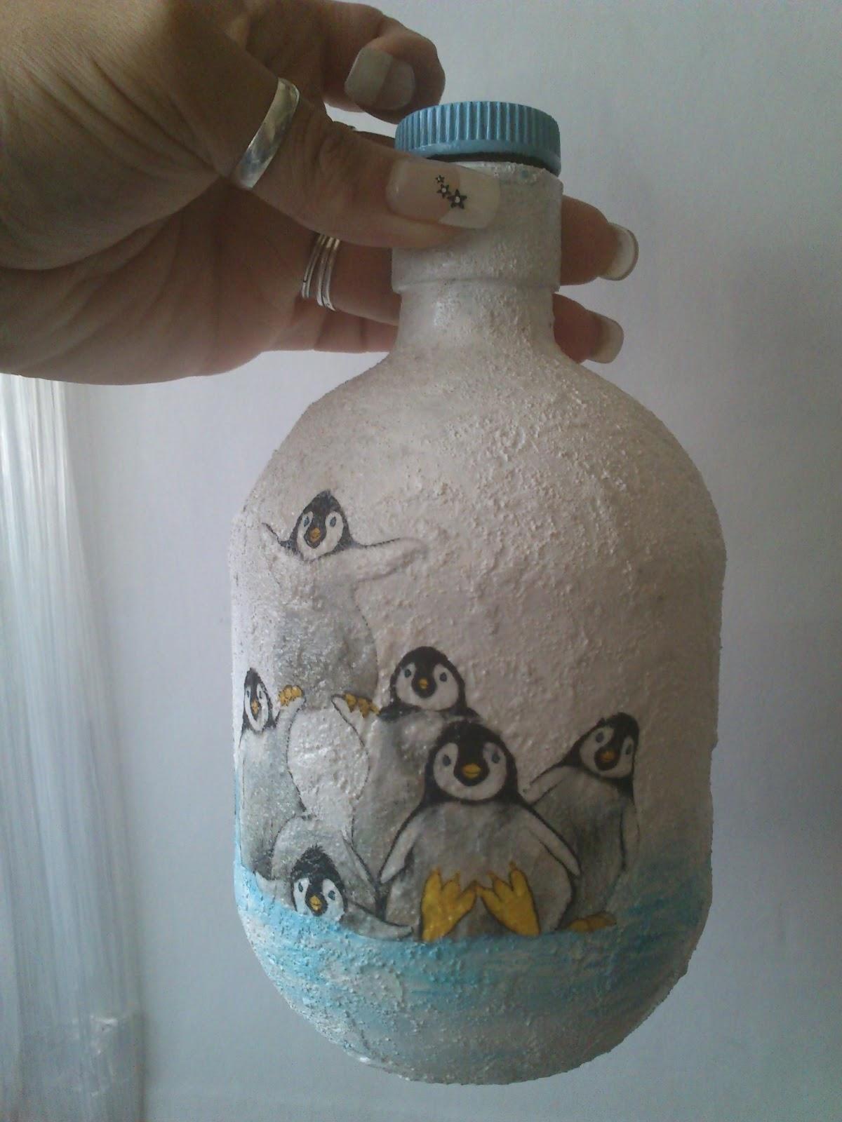El blog de crocosmia botella decorada colecci n navidad for Botellas de vidrio decoradas para navidad